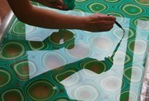 marbling, dying, staining / textile and paper