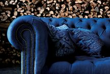 Front room blue velvet sofa theme / We never use the front room so let's revamp it and start sitting in there again