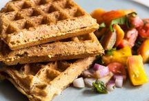 Recipes | Waffles / Dairy-free, meatless, eggless, vegan, vegetarian, and plant-based sweet and savory waffle recipes