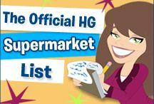 HG SUPERMARKET LISTS!
