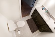 Bathrooms / Completed bathroom remodeling projects handled by our team at Excel Builders
