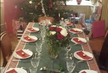 table de fête à la Villa Roassieux / Table, couverts,  decoration
