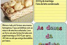 receitas / by Jaque Duarte