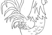 wzory pióra i ptaki