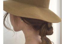 帽子スカーフヘア