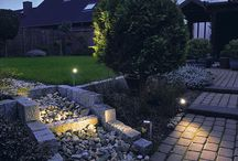 Garden Lights / Just some of the extensive range of garden lights we sell. They range from the modern contemporary to the traditional in style. All are constructed and designed to be safely used outdoors.   We sell and supply ground lights, wall lights, ceiling lights, lanterns, bollards, submersible pond and swimming pool lights just to name a few. We also offer an extensive range of LED garden light fittings.   To view our full range please visit our webstore at http://aomlighting.co.uk