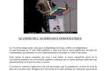 Pour l'alternance démocratique au Congo Brazzaville