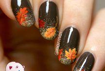 маникюр осень