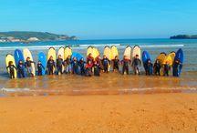 Clases de surf en Noja / Si quieres aprender a hacer surf este verano, vente a la Escuela de Surf Ris. Estamos situados en Noja, Cantabria. Contamos con profesores titulados y experimentados. Más información en nuestra web: www.escueladesurfris.com