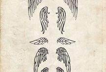 Тату крила