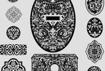 Ornament vectors - Various forms / Ornament vector collection. Available file formats: .dwg, .eps and .svg. / by Craftsmanspace Jan
