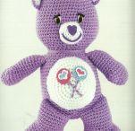 Free pattern crochet Care Bear blue