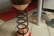 Boing / varie essenze di legno e molle di ammortizzatori di auto