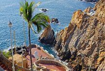 Mexican beaches view