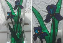 Hand painted glass / Hand painted glassware for sale