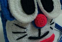 crochet bag Doraemon