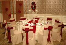 Red white Wedding