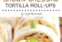 Bacon & Cheese Tortilla rolls
