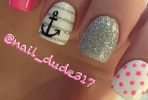 Nail art and make up
