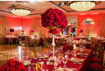 Decoration red gold wedding