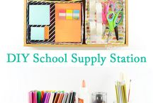 Homeschool / If I home school cute ideas for storage and cleanup
