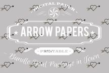 ARROWS PAPERS / DIGITAL PAPERS - ARROWS PAPERS BY DIGITAL PAPER SHOP
