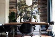 Minimal rustic eclectic interiors
