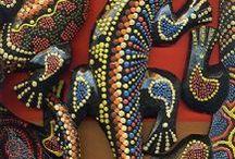 lagartos de madera
