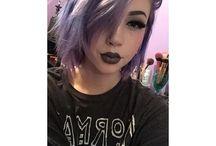 Colorfull emo hair