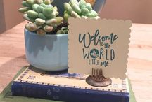 Welcome To The World Baby Shower Ideas / Welcome to the world baby shower theme - featuring baby shower ideas with a globe and travel theme. Decorations, favors, food and more!