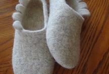 Zapatos en fieltro