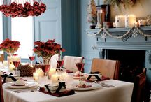 Christmas ~ Table setting ideas ~ red and white