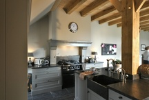 Keuken met pilaar