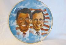Wall of Presidents - presidents on plates / My collecting obsession: president plates / by Sara Cook