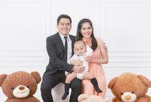 Family photo with teddy Bear