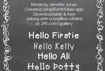 Fonts and Doodles / by Connie Richey