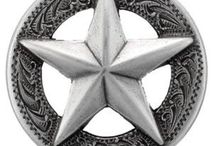 Conchos & Leather Hardware & Snaps / Beautiful conchos that are great for small projects and saddles! Also snaps and setters that will last for years to come in your leather craft project or repair!