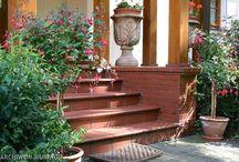 Front entry - wejście do domu / Wejście do domu, schody frontowe, ganek, oświetlenie z przodu domu