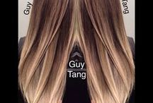 Balayage hair technics