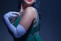 Girls in their shades / Candid, professional shots and selfies of the RED Burlesque Girls wearing their namesake RED Burlesque lipstick shade