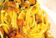 Spaghetti , linguine, bucatini, tagliatelle