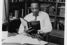 The Beautiful and Damned: Reading is for Everyone / Photographs of inspirational figures reading.