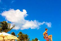 Fun with circus at the beach! / Funny and colorful circus performance, surrounded by the beautiful beach in #GVRivieraMaya / by Grand Velas Riviera Maya