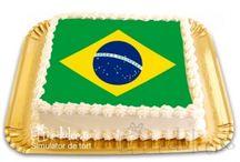 Campionatul de Fotbal / Torturi cu toate echipele participante la Campionatul Mondial de Fotbal din Brazilia. Fotografiile sunt comestibile!
