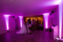 LED Uplighting / Venue Mood Lighting / Sound Solutions Dj, LED Uplighting or Mood Lighting can create a stunning effect in any venue.