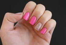 Pretty Nails / pink/sparkle