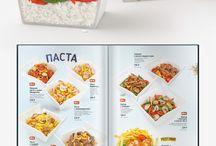 Menu design / Дизайн различных меню