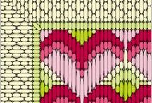 Lang stings broderi. Long stich embroidery