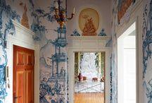 Chinoiserie wallpaper custom design to every order