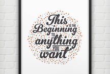 New Year: New You / It's hard sticking to your New Year's resolutions, but we're here with motivational messages to keep you going strong - and to inspire you to try something a little different.  / by notonthehighstreet.com